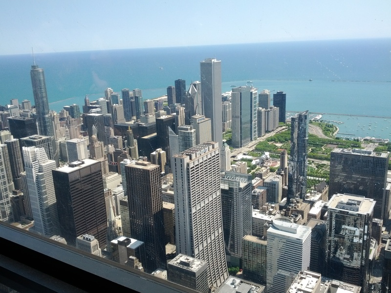 View of Millennium from Sears Tower aka Willis Tower